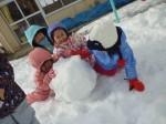 雪だるま作ろう!(^^)!