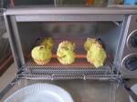 オーブントースターに入れました!