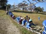 網の橋に挑戦!